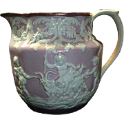 SALE Antique Stevenson Pink Luster Pearlware Creamer
