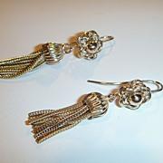 SOLD Vintage Tassel Earrings