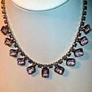 SOLD Vintage Rhinestone Necklace