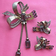Marvelous MAZER Sterling Silver Retro Pin Set!