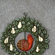 Hallmark Twirl About Ornament 1976 Partridge in a Pear Tree