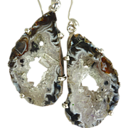 SOLD Geode Druzy Sterling Silver Earrings