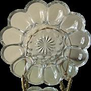 Vintage Glass Deviled Egg Platter