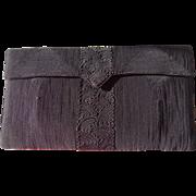 Vintage Black Corde Clutch Purse