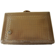 Vintage Volupte Gold Tone Purse with Rhinestone Clasp