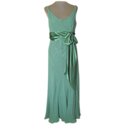 Jones of New York Green Silk Dress