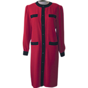 Vintage Red and Black Lilli Ann Dress