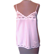 SOLD Vintage Christian Dior Pink Camisole with Pretty Place