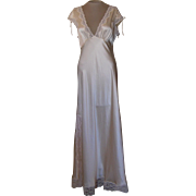 Silk Light Long Willow Blossom Nightgown with Gorgeous Lace