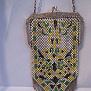 Mesh and Enamel Purse by Mandalian