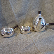 Sterling Silver Bachelor's Tea Set by Tango Aceves