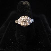 1.11 ct Platinum and Diamond Ring