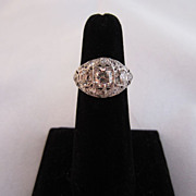 Art Deco Platinum and 2.6 cttw Diamond Ring