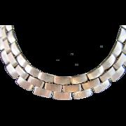 Art Deco Long Brass Necklace