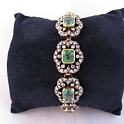 Antique Emerald & Diamond Bracelet