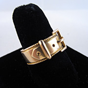 18k Yellow Gold Buckle Ring - Chester 1901