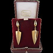 9k Yellow Gold Drop Earrings