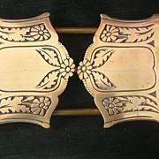 Arts & Crafts Brass Telescoping Bookstand