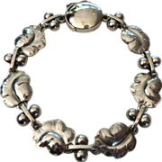 "Georg Jensen ""Moonlight Grapes"" Sterling Silver Bracelet"