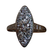 Art Deco Platinum Diamond Ring c1920s