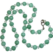 Peking Glass & Crystal Glass Bead Necklace