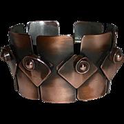 Rebajes Modernist Wide Link Copper Bracelet