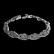 Delicate Sterling Marcasite Link Bracelet