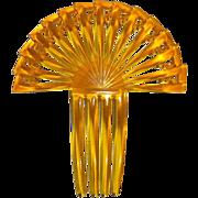 Art Deco Stepped Fan Ornamental Hair Comb