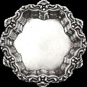 Antique Sterling Art Nouveau Floral Edge Pin Tray
