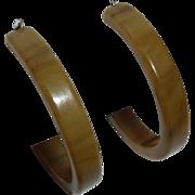 End-of-the-Day Bakelite Vintage Storestock Pierced Hoop Earrings