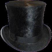 Antique Victorian Beaver Top Hat