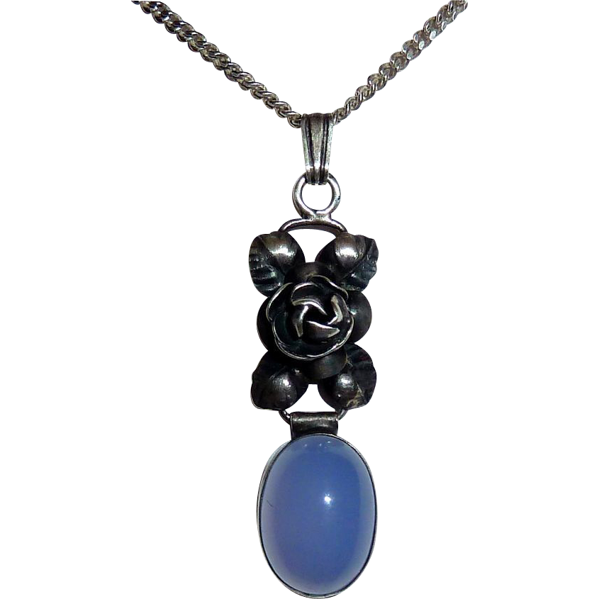 sterling chalcedony pendant necklace from bejewelled on