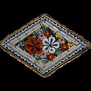 Antique Victorian Italian Glass Mosaic Pin