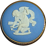 Wedgwood Blue Jasperware Cameo Angel~Cupid~Eros Pin/Pendant