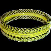 Set of 3 Striped Murano Glass Bangle Bracelets