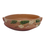 Roseville American Art Pottery Snowberry Ombre Console Bowl