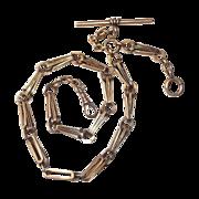 14k Rose Gold Victorian Decorative Watch Chain