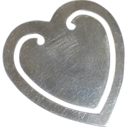SALE PENDING Tiffany & Co Sterling Heart Bookmark