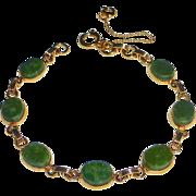 Gold Filled Serpentine Cabochon Bracelet