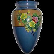 Porcelain Floral Luster Wall Pocket Japan