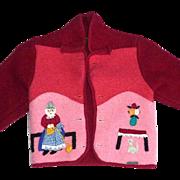 SOLD Giesswein Austria Applique Wool Childs Jacket