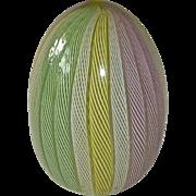Murano Latticino Pastel Art Glass Paperweight