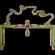 Austro Hungarian Jeweled & Enameled Purse Frame