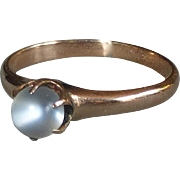 Antique Victorian 10k Rose Gold Moonstone Ring