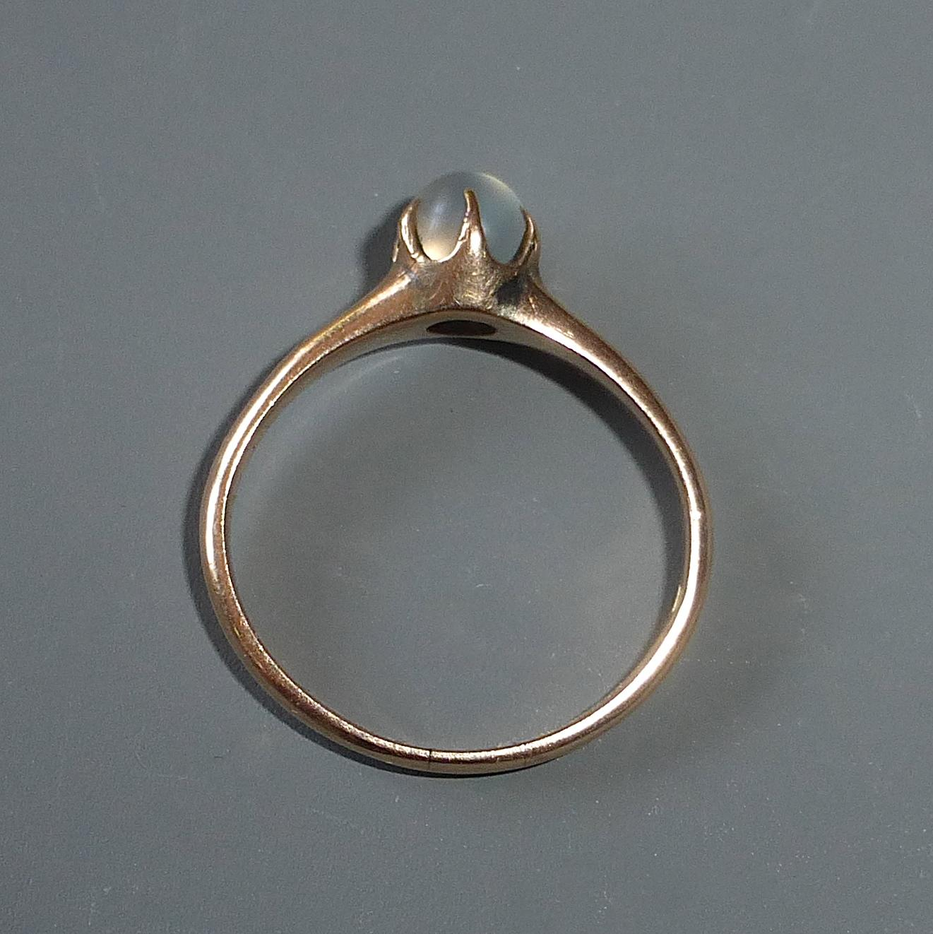 antique 10k gold moonstone ring from