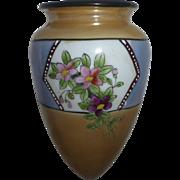 Porcelain Floral Lusterware Wall Pocket Japan