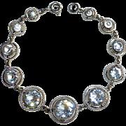 Art Deco Czech Graduated Crystal Bracelet