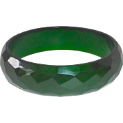 Faceted Green Prystal Bakelite Bracelet