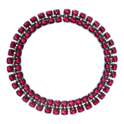 Superb Trifari Sterling Jeweled Necklace by Alfred Phillipe