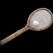 Vintage Spalding Tennis Racket TOP FLITE Model OPEN THROAT